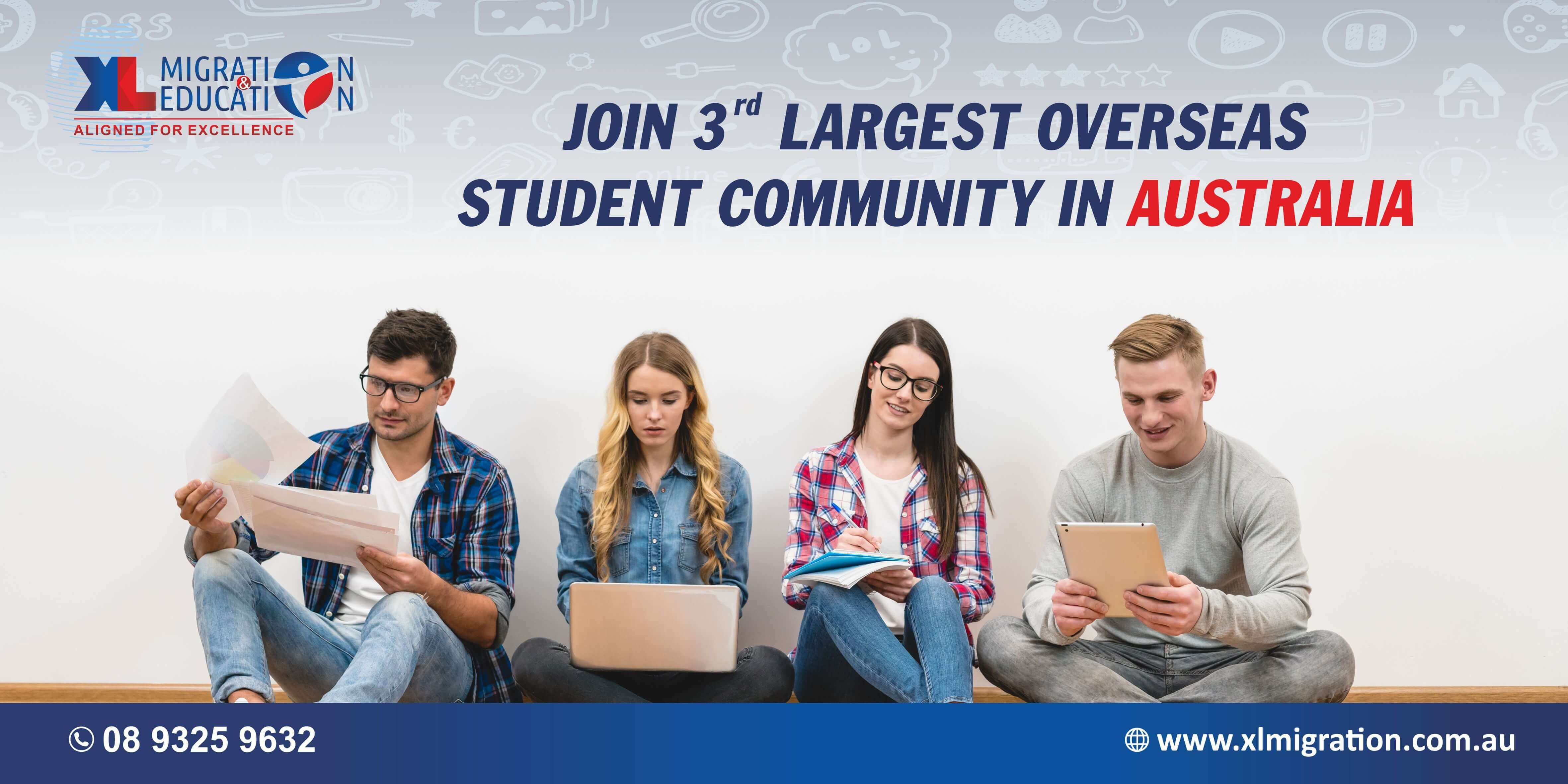 Join 3rd largest overseas student community in Australia